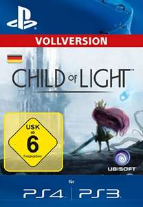 (Amazon.de) Sammeldeal: z.B, Child of Light (PS3, PS4 PSN Code), The Legend of Korra (PS4 Code) für je 3,99€