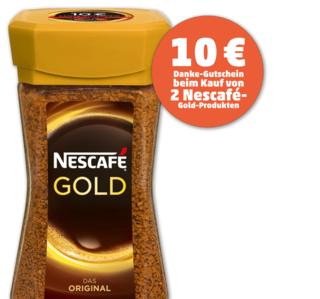 [REAL, Penny] 2x 200g-Glas Nescafé Gold für 13,98 € (REAL) bzw. 14,98 € (Penny) holen und 10 €-Gutschein für REAL bzw. Penny bekommen