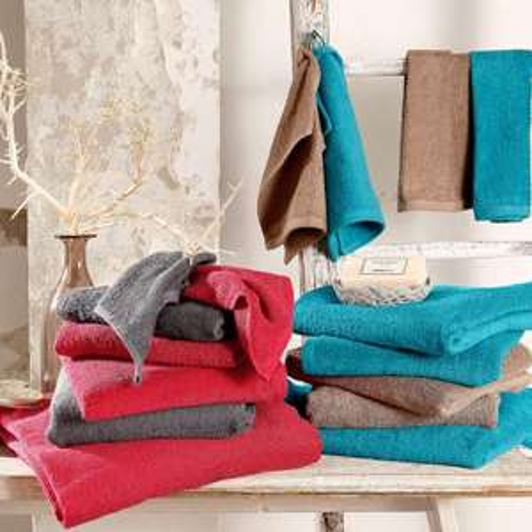 """Handtuch Set """"Lisa"""" (7tlg. + reine Baumwolle)"""