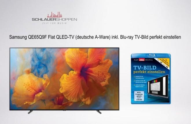 Samsung QLED Q9F (GMTXZG) 65 Zoll Flat Fernseher UHD HDR Twin-Tuner VESA 120Hz