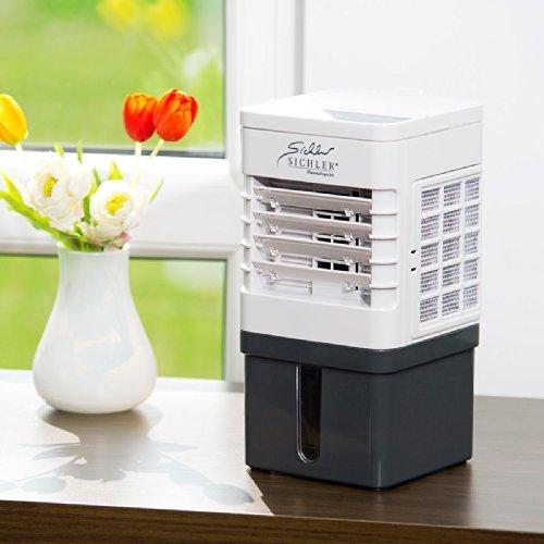 Sichler Haushaltsgeräte Kompakter Mini-Akku-Luftkühler mit Wasserkühlung  @ Amazon