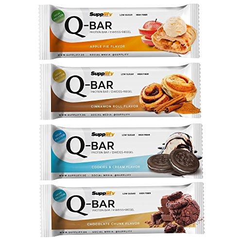Protein Eiweißriegel Q-Bar Fintess Snack von Supplify erneut im Angebot für 15,97€ inkl Versand für Primenutzer statt 29,90€
