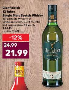 [Kaufland - bundesweit] Glenfiddich Single Malt Whisky 12 Jahre 0,7l