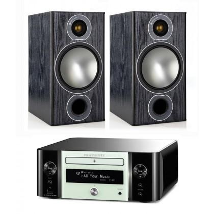 MARANTZ M-CR611 Verstärker & Monitor Audio Bronze 2 Lautsprecher