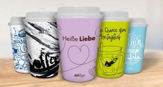 Design-Kaffeebecher+ 5 Heißgetränke bei Shell für 10€