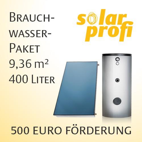 Solarthermie Komplettpaket 9,36m² inkl. Wasserspeicher