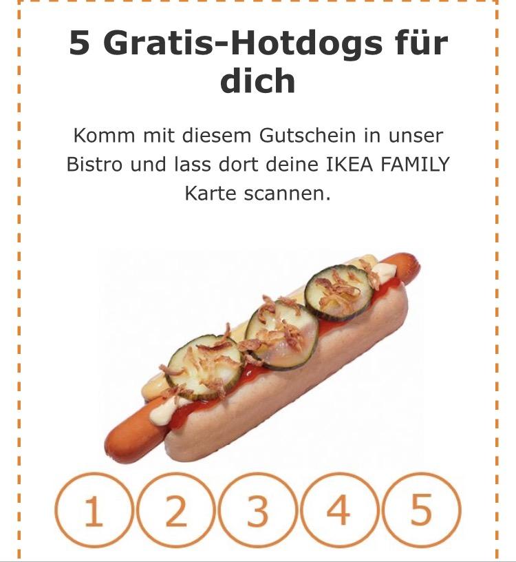 (Ikea Newsletter) 5 Gratis Hot Dogs + 5 Gratis Gläser + 5€ Gutschein [personalisiert]