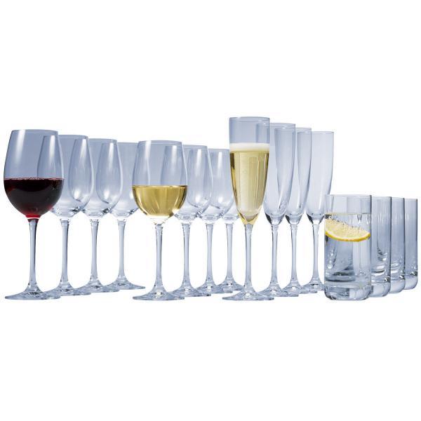 Schott Zwiesel Kelchglas-Set Classico, 24-teilig (Rot-, Weißwein, Sekt und Trinkgläser)