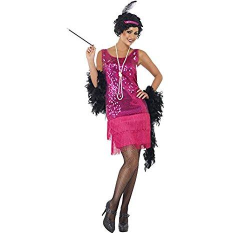 20er Jahre Charleston Kleid pink Damen Gatsby 20ies Kostüm (Gr. S)