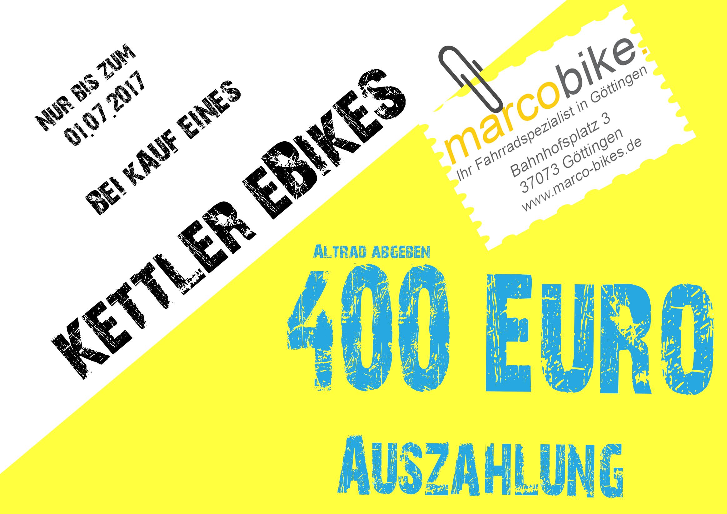 Alt gegen Neu - 400€ bei Kauf eines eBikes