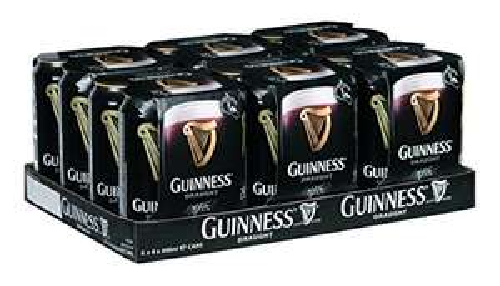 [Amazon Prime]24x0,44 l Guinness Draught für 32,99 € inkl. 6 € Pfand (Normalpreis 40,56€)