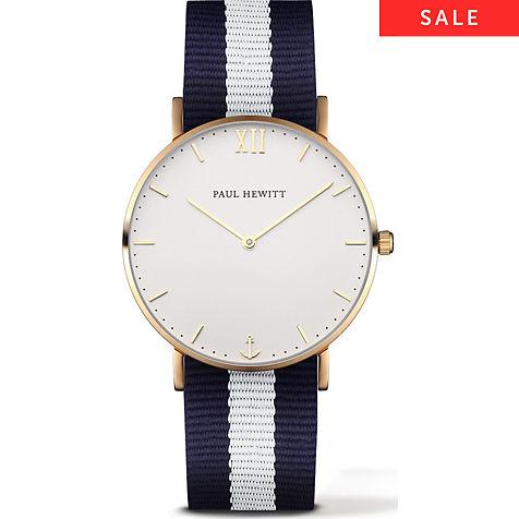 Paul Hewitt Sailor Line Uhr Gold 69,90 - Zweitband in Wunschfarbe: +19,90€