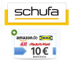 meineSCHUFA Plus 100 Tage kostenlos + 10€ BestChoice-Gutschein (WEB.de Aktion)