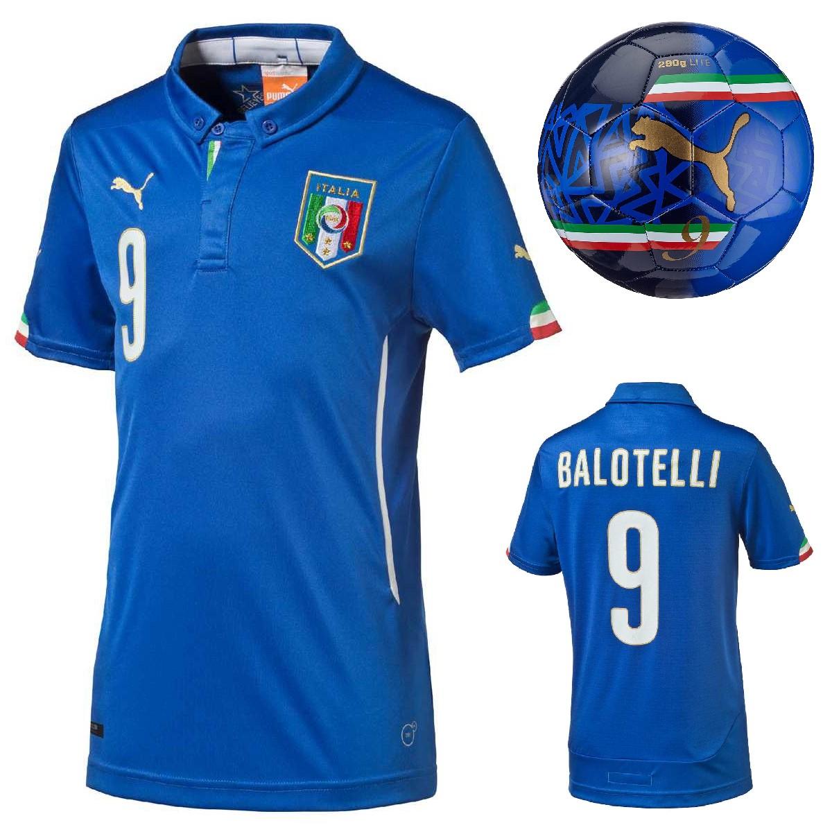Puma Italien Trikot Mario Balotelli Gr. 128 - 176 + Italien Ball evoPOWER für 14,69€