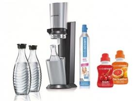 Sodastream Crystal mit 3 x Glaskaraffe und 2 x Sirup (mit Rakuten-Newsletter-Gutschein)