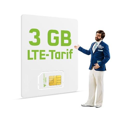 Mobilecom Debitel 3 GB LTE + 100 Minuten + 100 SMS im Netz von O2