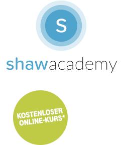 """1 kostenloser Onlinekurs bei """"SHAW ADACEMY"""" + kostenloses Tool-Kit (Extra Webinars und Serminarunterlagen) für Telekomkunden"""