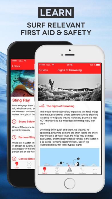 'Surf First Aid' - App für Wellenreiter und andere Wassersportler - GRATIS statt 2,99 €