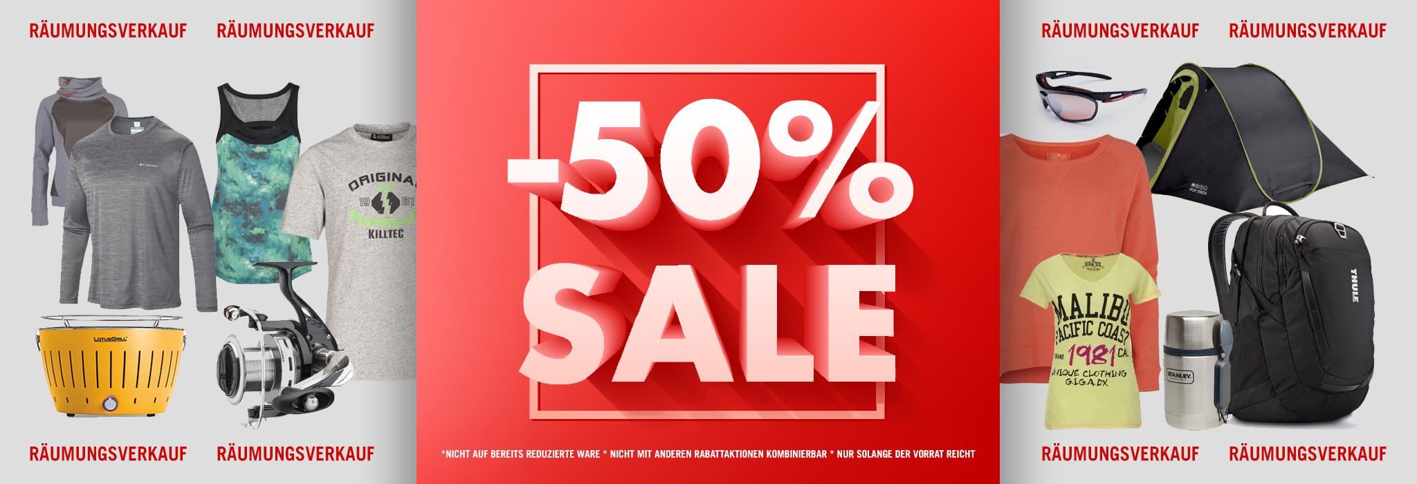 [Lokal Remscheid] Räumungsverkauf Outdoorbedarf und Angelsportartikel -50%