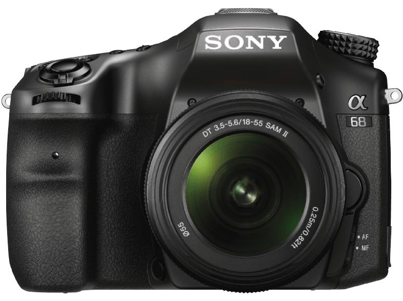 SONY ILCA-68K Spiegelreflexkamera, 24.2 Megapixel, APS-C, Exmor CMOS Sensor, 18-55 mm Objektiv, Autofokus, Schwarz @Saturn und Amazon