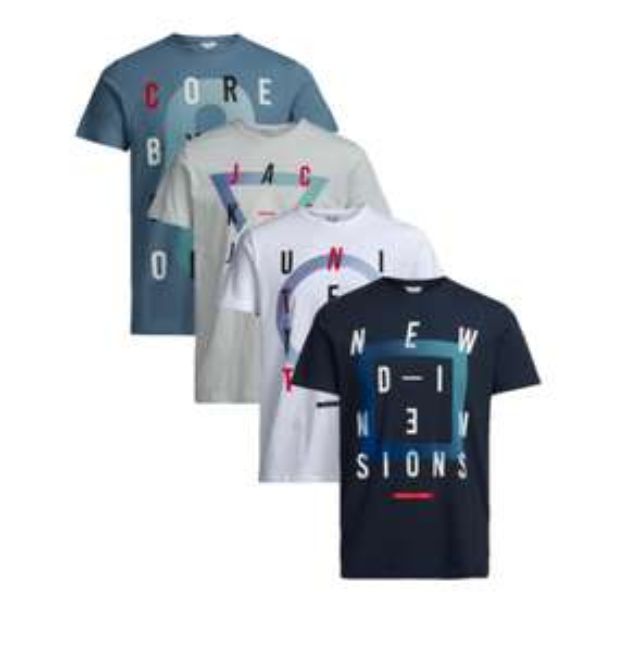 T-Shirt Bundles (4 Stück) von Mustang und Jack & Jones (100% Baumwolle und alle Größen) ab 23,85€ statt ca. 44€ @Jeans Direct