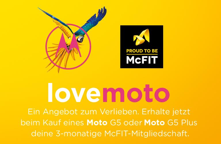 Aktion für Kauf eines Moto G5 oder Moto G5 Plus (3-monatige McFIT-Mitgliedschaft geschenkt)