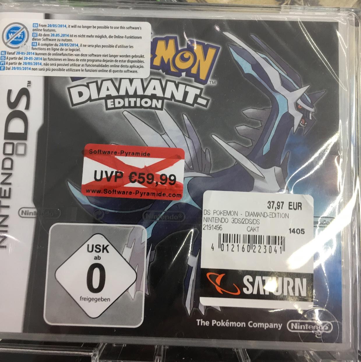 Verschiedene Pokemon Editionen für Nintendo DS [lokal Saturn Darmstadt)