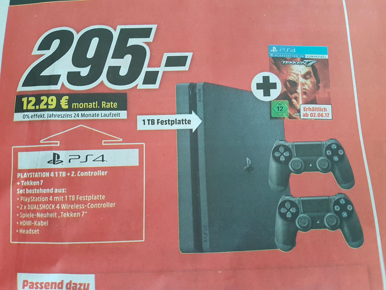 [MM Bundesweit] PlayStation 4 1 TB + 2. Controller + Tekken 7