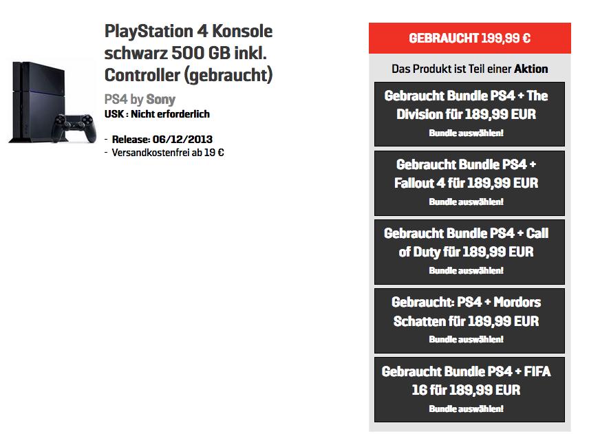 GameStop: PS4+Controller+Game für 189,99 € (Stores/Online)