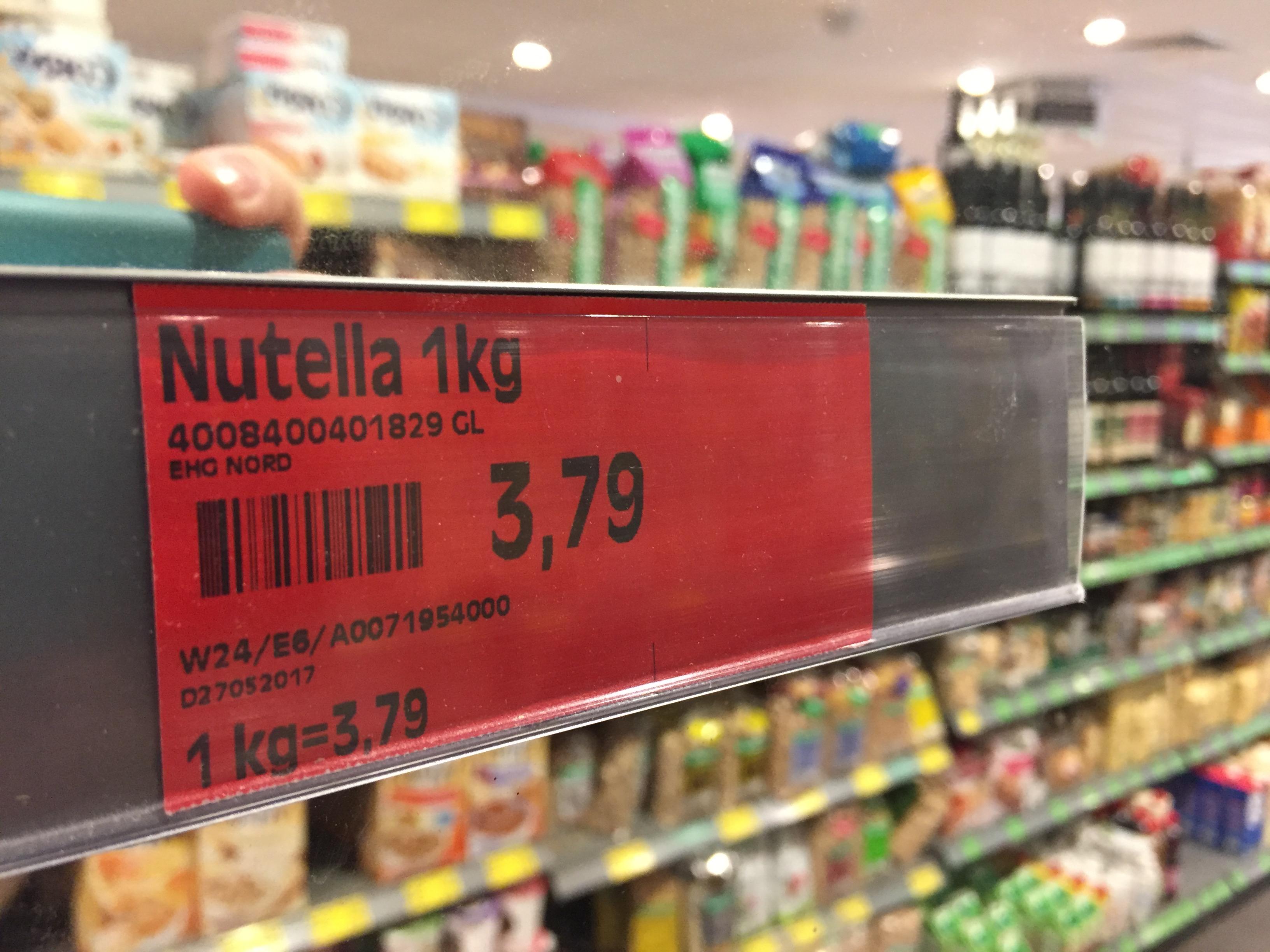 Nutella 1kg 3,79€ @Edeka (HH - Hagenbecks Tierpark) - Lokal?