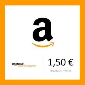 Amazon Einkaufsgutschein im Wert von 1,50€ für 1,25€ bei eBay