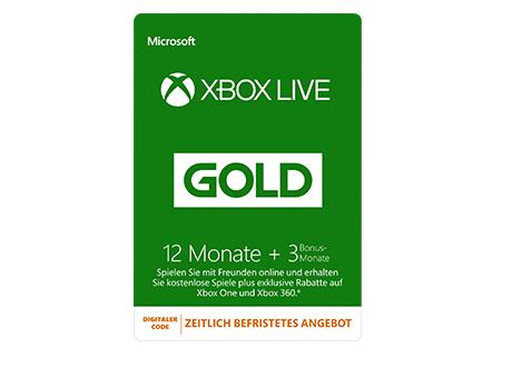 Gametop (Stores) Xbox Gold-Mitgliedschaft 12 Monate+3 geschenkt (59,99€)