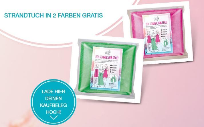 Unilever Produkte (AXE, Dove, Dove Men+Care, duschdas, Rexona) im Wert von mindestens 5,- € kaufen - kostenloses Strandtuch in grün oder pink erhalten