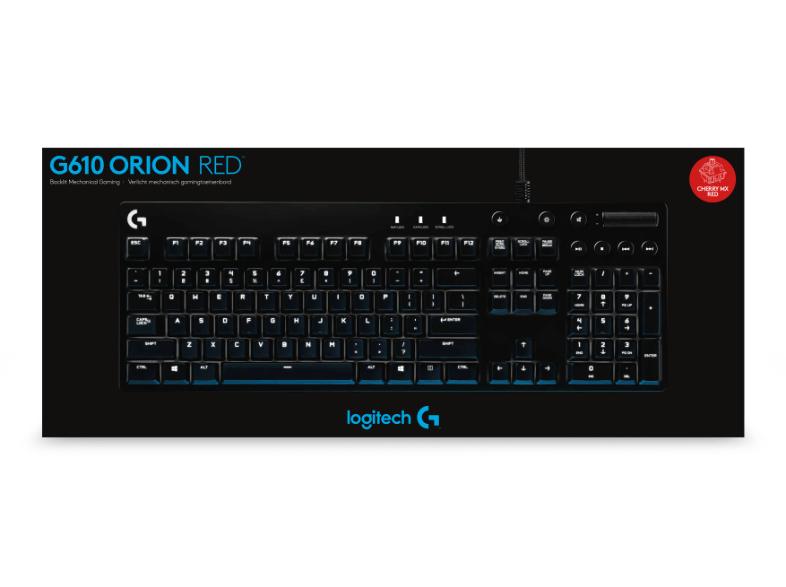 LOGITECH G610, Orion Red Gaming-Tastatur für 49,99€ Versandkostenfrei [Saturn LNS]