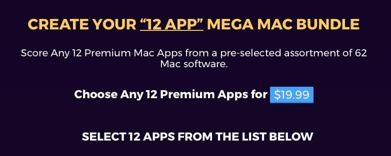 Neue Apps bei BundleHunt: 12 aus 60 Mac Apps für $19.99