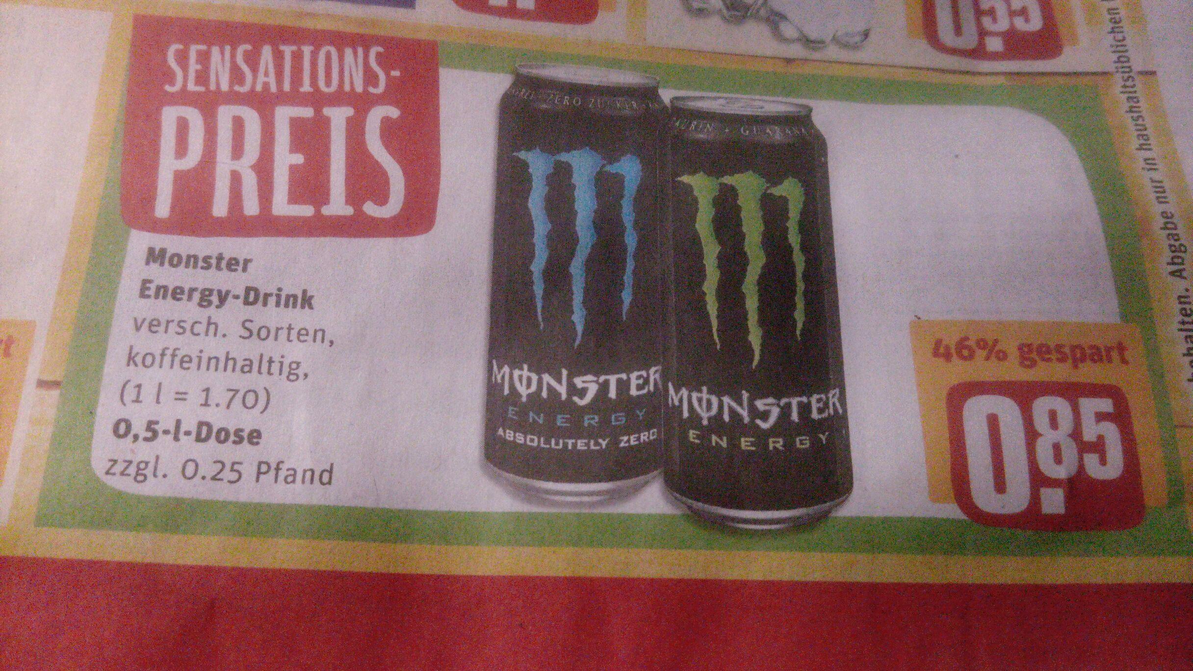 Versch. Monster Energy-Drinks im Rewe