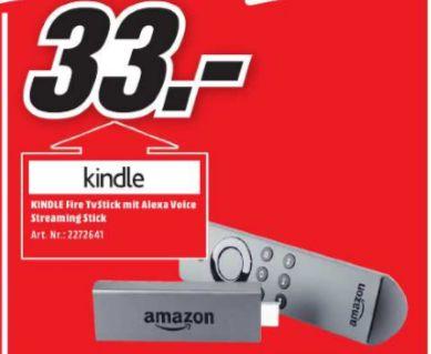 [Lokal Mediamarkt Paderborn-Tagesangebot am 02.06 von 18-22 Uhr] Amazon Fire TV Stick mit Alexa-Sprachfernbedienung für 33,-€