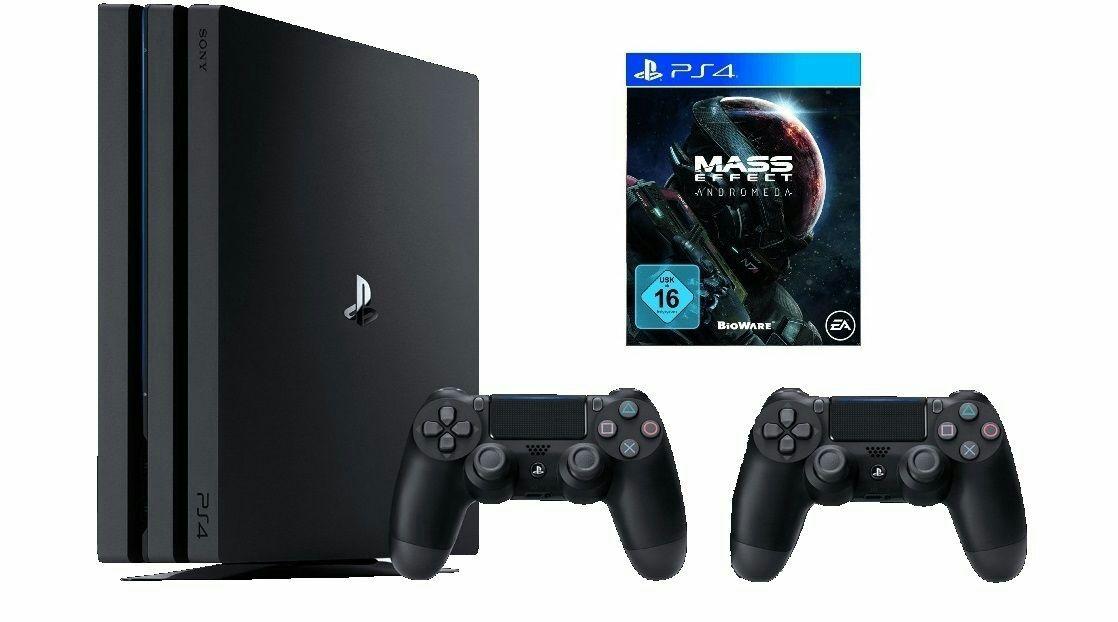 PS4 Pro + 2 Controller + Mass Effect Andromeda für 399€ [Saturn ebay]