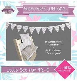 Sitzkissen für Stokke Kinderhochstuhl - Wimpelkette gratis