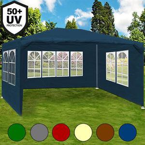 Pavillon 3x4m Partyzelt Festzelt Gartenzelt Gartenpavillon Bierzelt Zelt Maui