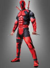 Deadpool Kostüm für Erwachsene - Deluxe  @ VEGAOO