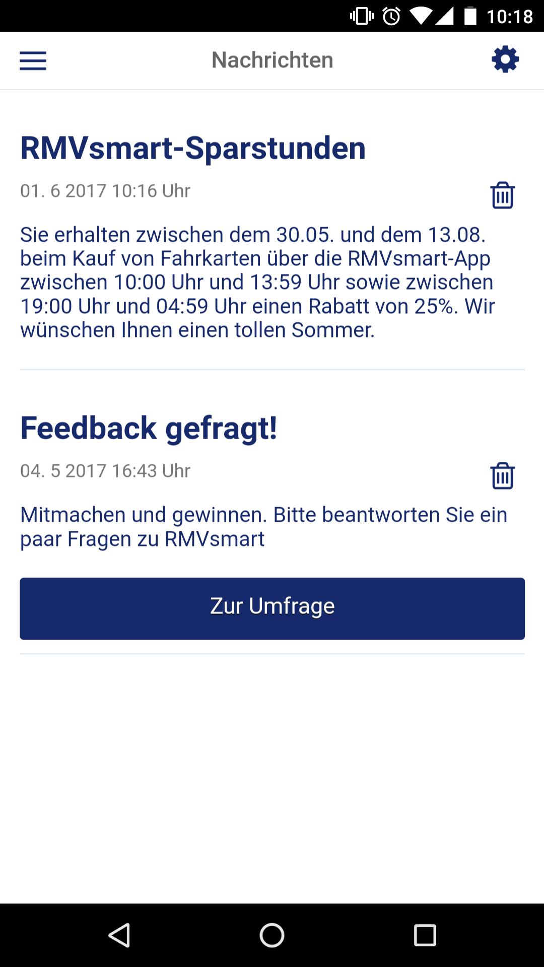 [Rhein-Main] 25% extra Rabatt bei Ticketkauf mit RMV smart app vom 30.5 - 13.8