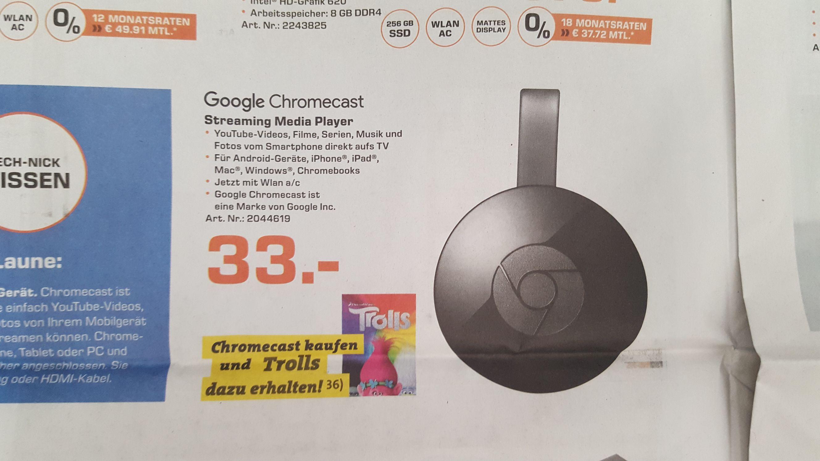 Saturn Google Chromecast inklusive Trolls