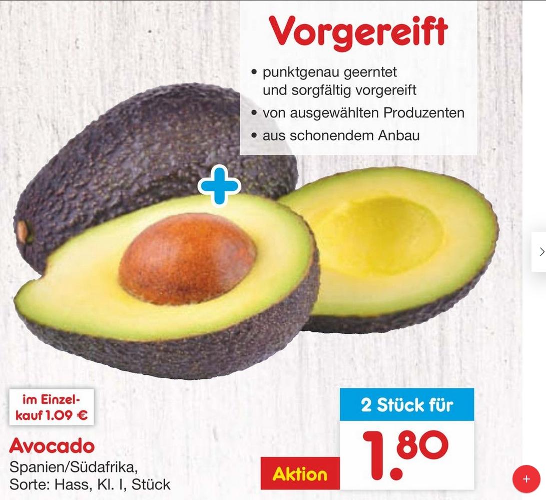 [Netto-MD] 2x Hass Avocado Klasse 1 für zusammen 1,80 !