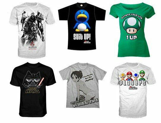 Gaming T-Shirts von Nintendo, Sony, Super Mario und Co. für je 7,99€
