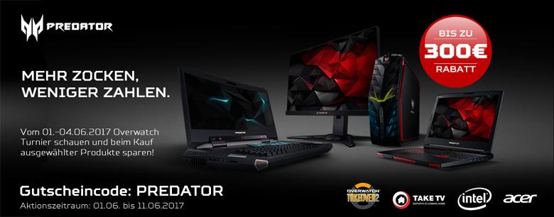 [notebooksbilliger.de] Bis zu 300€ Rabatt beim Kauf von Acer Predator Produkten