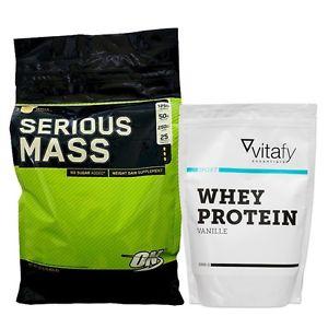 Ebay: Optimum Nutrition Serious Mass (5454g) + Vitafy Essentials Whey Pro - Nur 5,60 €