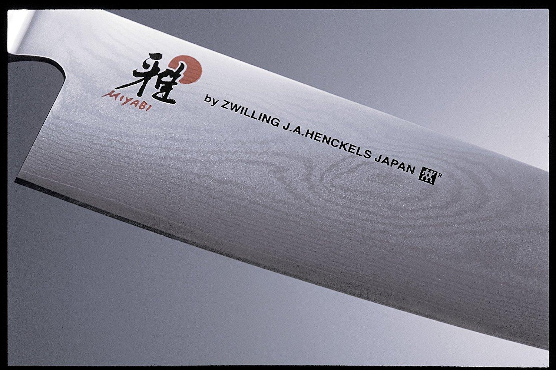 [Amazon.fr] Damast (Stahl Klingenkern) Kochmesser Miyabi von Zwilling 20cm Gyutoh und 18 cm Santoku (Stückpreis)