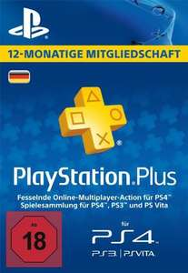 PlayStation Network Plus 12 Monate Mitgliedschaft - PSN Plus Card (DE)
