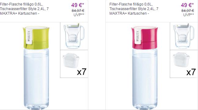 BRITA Filter-Flasche Tischwasserfilter  7*MAXTRA u. Kartuschen